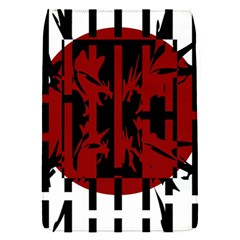 Red, black and white decorative abstraction Flap Covers (S)