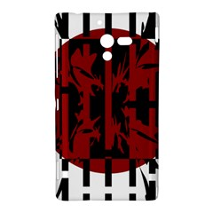 Red, black and white decorative abstraction Sony Xperia ZL (L35H)