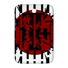 Red, black and white decorative abstraction Samsung Galaxy Note 8.0 N5100 Hardshell Case