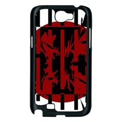 Red, black and white decorative abstraction Samsung Galaxy Note 2 Case (Black)