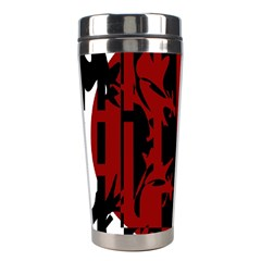 Red, black and white decorative abstraction Stainless Steel Travel Tumblers