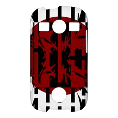 Red, black and white decorative abstraction Samsung Galaxy S7710 Xcover 2 Hardshell Case