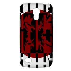 Red, Black And White Decorative Abstraction Galaxy S4 Mini