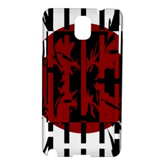 Red, Black And White Decorative Abstraction Samsung Galaxy Note 3 N9005 Hardshell Case