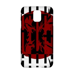 Red, black and white decorative abstraction Samsung Galaxy S5 Hardshell Case
