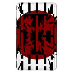 Red, black and white decorative abstraction Samsung Galaxy Tab Pro 8.4 Hardshell Case