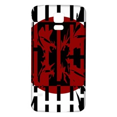 Red, black and white decorative abstraction Samsung Galaxy S5 Back Case (White)
