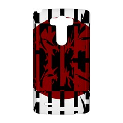 Red, black and white decorative abstraction LG G3 Hardshell Case