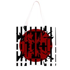 Red, black and white decorative abstraction Grocery Light Tote Bag