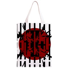 Red, black and white decorative abstraction Classic Light Tote Bag