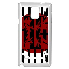 Red, black and white decorative abstraction Samsung Galaxy Note 4 Case (White)