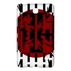 Red, Black And White Decorative Abstraction Samsung Galaxy Tab 4 (7 ) Hardshell Case