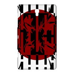 Red, Black And White Decorative Abstraction Samsung Galaxy Tab S (8 4 ) Hardshell Case