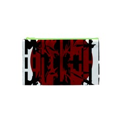 Red, black and white decorative abstraction Cosmetic Bag (XS)