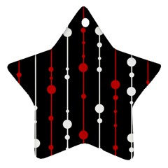 Red black and white pattern Ornament (Star)