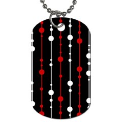 Red black and white pattern Dog Tag (Two Sides)