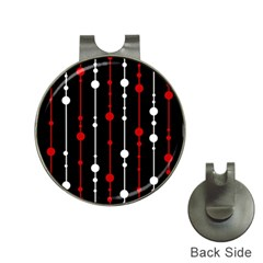 Red black and white pattern Hat Clips with Golf Markers