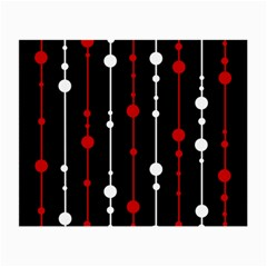 Red black and white pattern Small Glasses Cloth