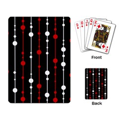 Red black and white pattern Playing Card