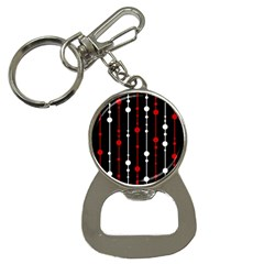 Red black and white pattern Bottle Opener Key Chains