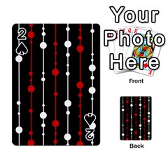 Red black and white pattern Playing Cards 54 Designs