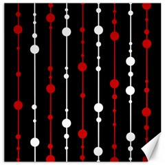 Red black and white pattern Canvas 20  x 20