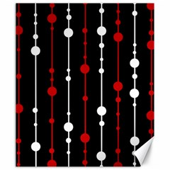 Red black and white pattern Canvas 20  x 24