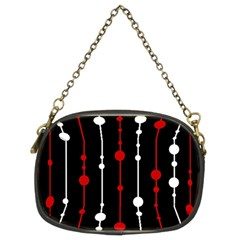 Red black and white pattern Chain Purses (Two Sides)