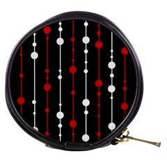 Red black and white pattern Mini Makeup Bags