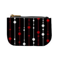 Red black and white pattern Mini Coin Purses