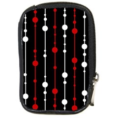 Red black and white pattern Compact Camera Cases