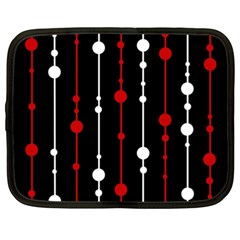 Red black and white pattern Netbook Case (XXL)