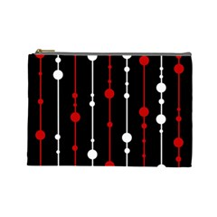 Red black and white pattern Cosmetic Bag (Large)