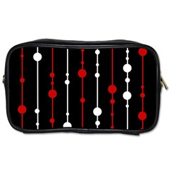 Red black and white pattern Toiletries Bags