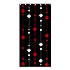 Red black and white pattern Shower Curtain 36  x 72  (Stall)