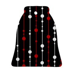 Red black and white pattern Ornament (Bell)