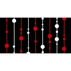 Red black and white pattern YOU ARE INVITED 3D Greeting Card (8x4)