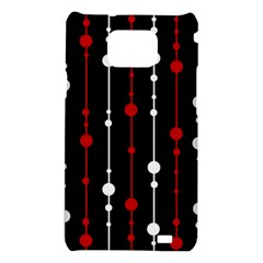 Red black and white pattern Samsung Galaxy S2 i9100 Hardshell Case