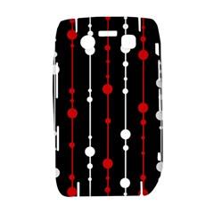 Red black and white pattern Bold 9700