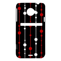 Red black and white pattern HTC Evo 4G LTE Hardshell Case