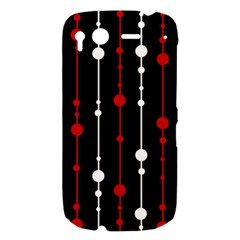 Red black and white pattern HTC Desire S Hardshell Case