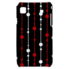 Red black and white pattern Samsung Galaxy S i9000 Hardshell Case
