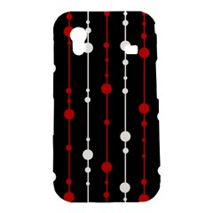 Red black and white pattern Samsung Galaxy Ace S5830 Hardshell Case