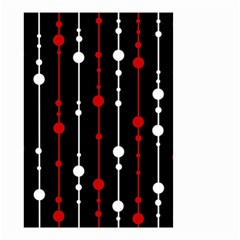 Red black and white pattern Small Garden Flag (Two Sides)