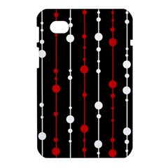 Red black and white pattern Samsung Galaxy Tab 7  P1000 Hardshell Case