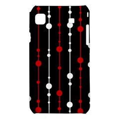 Red black and white pattern Samsung Galaxy S i9008 Hardshell Case