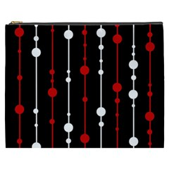 Red black and white pattern Cosmetic Bag (XXXL)