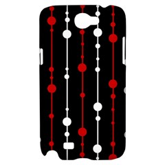 Red black and white pattern Samsung Galaxy Note 2 Hardshell Case