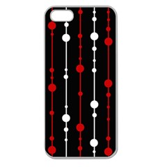Red black and white pattern Apple Seamless iPhone 5 Case (Clear)