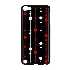 Red black and white pattern Apple iPod Touch 5 Case (Black)
